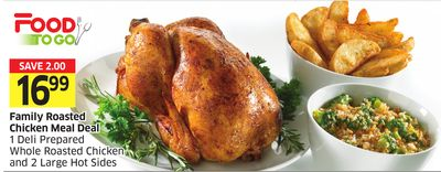 Family Roasted Chicken Meal Deal 1 Deli Prepared Whole Roasted Chicken and 2 Large Hot Sides
