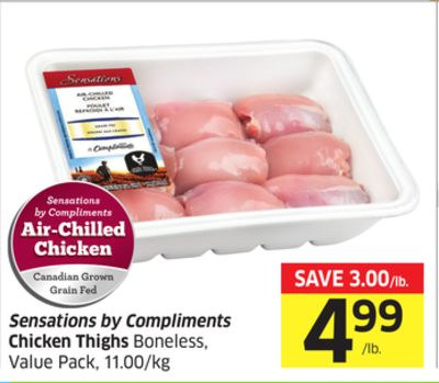 Sensations By Compliments Chicken Thighs Boneless - Value Pack