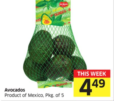 Avocados Product of Mexico - Pkg of 5