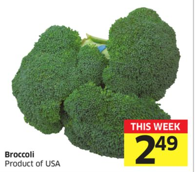 Broccoli Product of USA