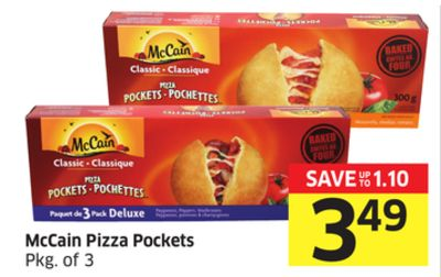 Mccain Pizza Pockets Pkg of 3