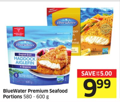 Bluewater Premium Seafood Portions 580 - 600 g