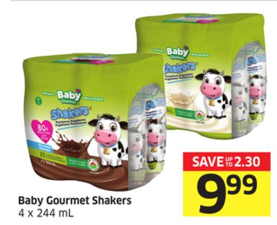 Baby Gourmet Shakers 4 X 244 mL