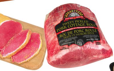 Leadbetters Pork Loin Sweet Pickled - Rolled In Cornmeal or Pork Cottage Rolls Sweet Pickled - 6.61/kg
