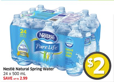 Nestlé Natural Spring Water 24 X 500 mL