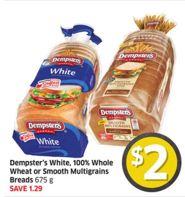 Dempster's White - 100% Whole Wheat or Smooth Multigrains Breads 675 g