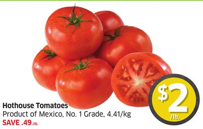 Hothouse Tomatoes Product of Mexico - No. 1 Grade - 4.41/kg