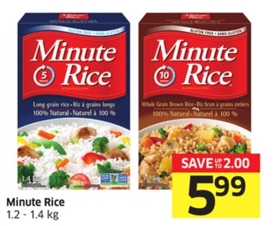 Minute Rice 1.2 - 1.4 Kg