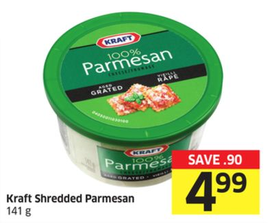 Kraft Shredded Parmesan 141 g