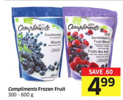 Compliments Frozen Fruit 300 - 600 g