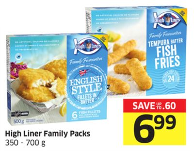 High Liner Family Packs 350 - 700 g
