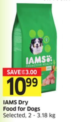 Iams Dry Food For Dogs Selected - 2 - 3.18 Kg