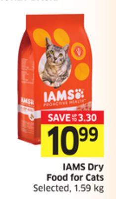 Iams Dry Food For Cats Selected - 1.59 Kg