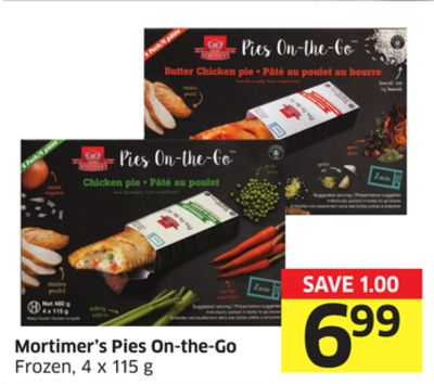 Mortimer's Pies On-the-go Frozen - 4 X 115 g