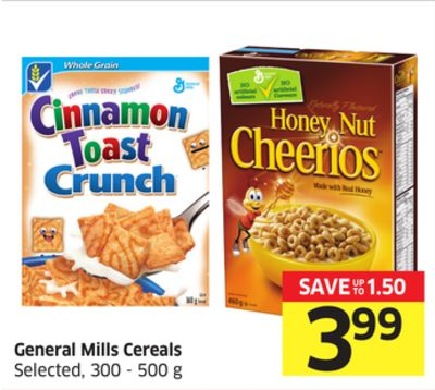 General Mills Cereals Selected - 300 - 500 g