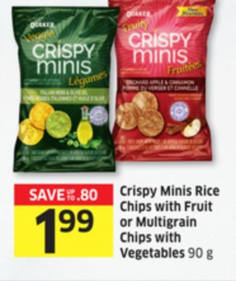 Crispy Minis Rice Chips With Fruit or Multigrain Chips With Vegetables 90 g - 15 Air Miles Reward Miles