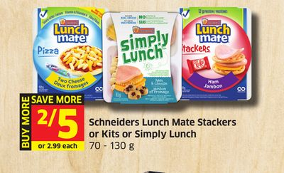 Schneiders Lunch Mate Stackers or Kits or Simply Lunch 70 - 130 g