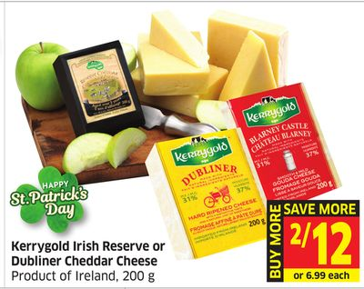 Kerrygold Irish Reserve or Dubliner Cheddar Cheese Product of Ireland - 200 g