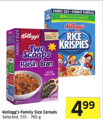 Kellogg's Family Size Cereals Selected - 515 - 765 g