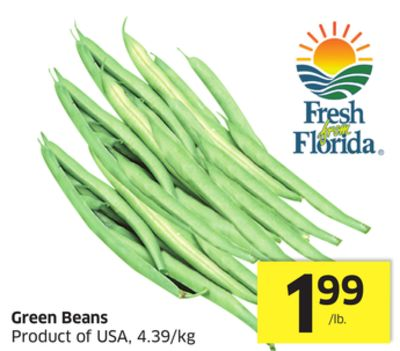 Green Beans Product of USA - 4.39/kg