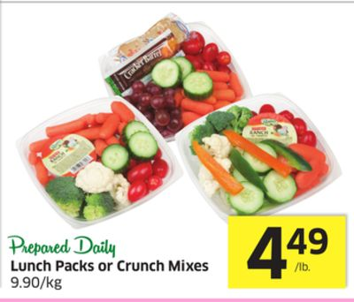 Lunch Packs or Crunch Mixes 9.90/kg