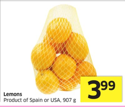 Lemons Product of Spain or USA - 907 g