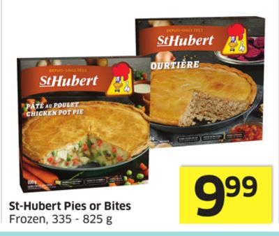 St-hubert Pies or Bites Frozen - 335 - 825 g