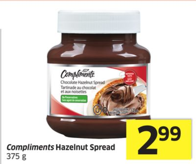 Compliments Hazelnut Spread 375 g