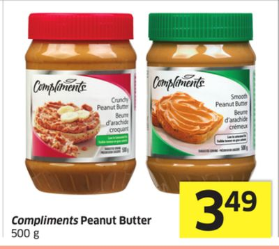 Compliments Peanut Butter 500 g