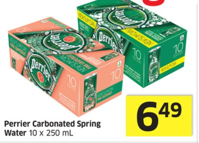 Perrier Carbonated Spring Water 10 X 250 mL