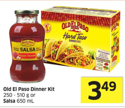 Old El Paso Dinner Kit 250 - 510 g or Salsa 650 mL