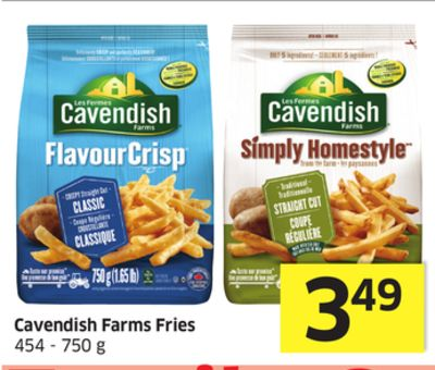 Cavendish Farms Fries 454 - 750 g