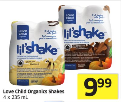 Love Child Organics Shakes 4 X 235 mL