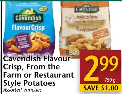 Cavendish Flavour Crisp - From The Farm or Restaurant Style Potatoes
