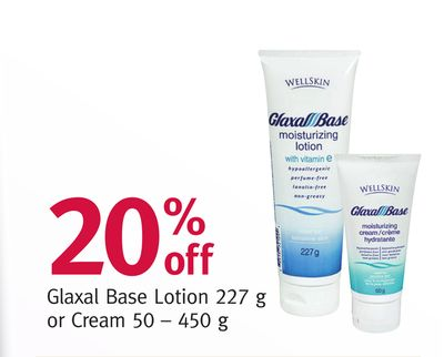 Glaxal Base Lotion 227 g or Cream 50–450 g