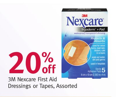 3m Nexcare First Aid Dressings or Tapes