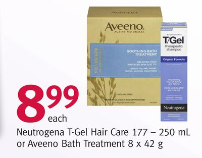 Neutrogena T-gel Hair Care 177–250 mL or Aveeno Bath Treatment 8 X 42 g