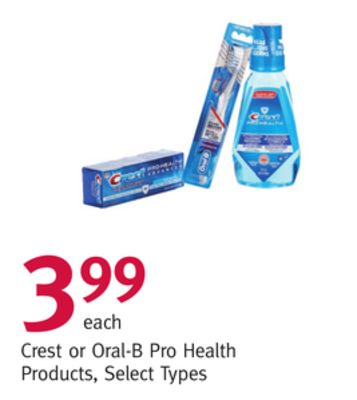 Crest or Oral-B Pro Health Products