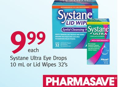 Systane Ultra Eye Drops 10 mL or Lid Wipes 32's