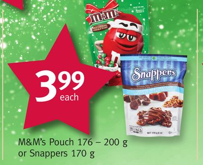 M&m's Pouch 176 – 200 g or Snappers 170 g
