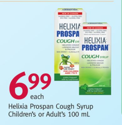 Helixia Prospan Cough Syrup Children's or Adult's 100 mL