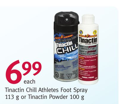 Tinactin Chill Athletes Foot Spray 113 g or Tinactin Powder 100 g