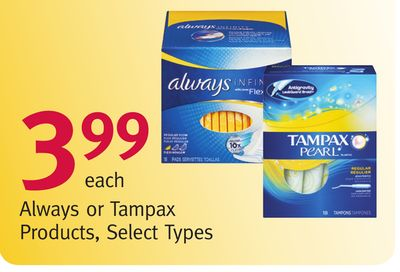 Always or Tampax Products