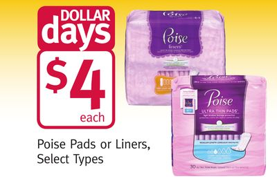 Poise Pads or Liners