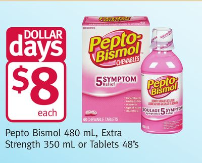Pepto Bismol 480 mL - Extra Strength 350 mL or Tablets 48's