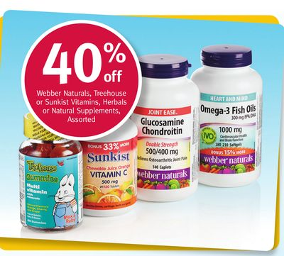 Webber Naturals - Treehouse or Sunkist Vitamins - Herbals or Natural Supplements - Assorted