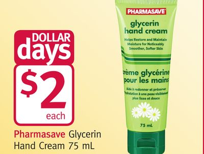 Pharmasave Glycerin Hand Cream 75 mL