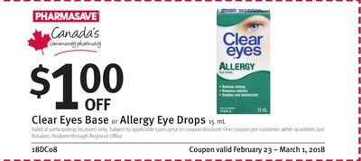 Clear Eyes Base or Allergy Eye Drops Coupon