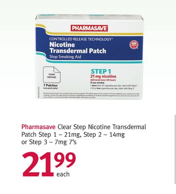 Pharmasave Clear Step Nicotine Transdermal