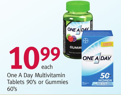 One A Day Multivitamin Tablets 90's or Gummies 60's